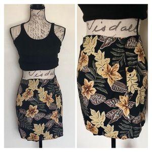 ❤️ 5/$25 Vintage Starwear Floral Beach Wrap Skirt